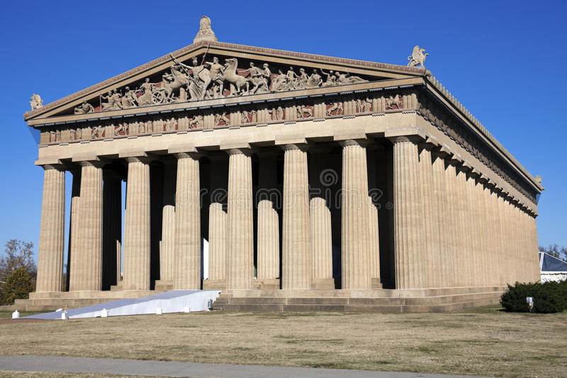 Parthenon in Nashville stock afbeeldingen