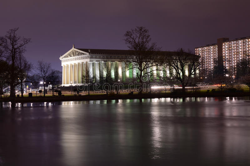 Parthenon in Nashville Tennessee stock photography