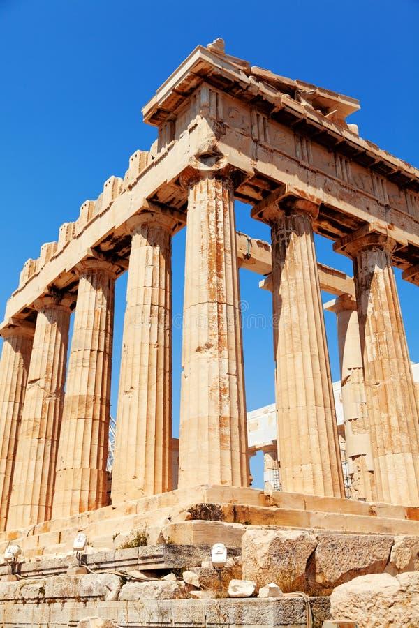 Parthenon no Acropolis, Atenas fotografia de stock