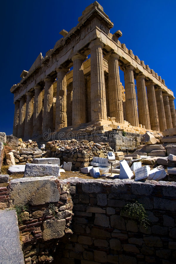 Parthenon, o templo de Athena foto de stock royalty free