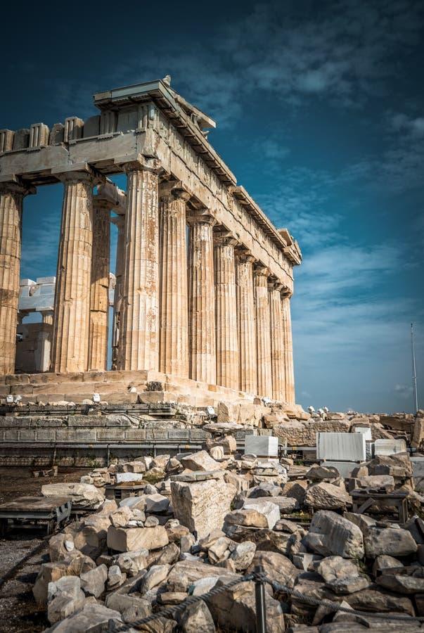 Parthenon på akropolen av Aten, Grekland fotografering för bildbyråer