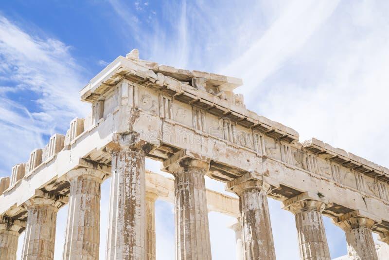 Parthenon p? akropolen arkivbilder