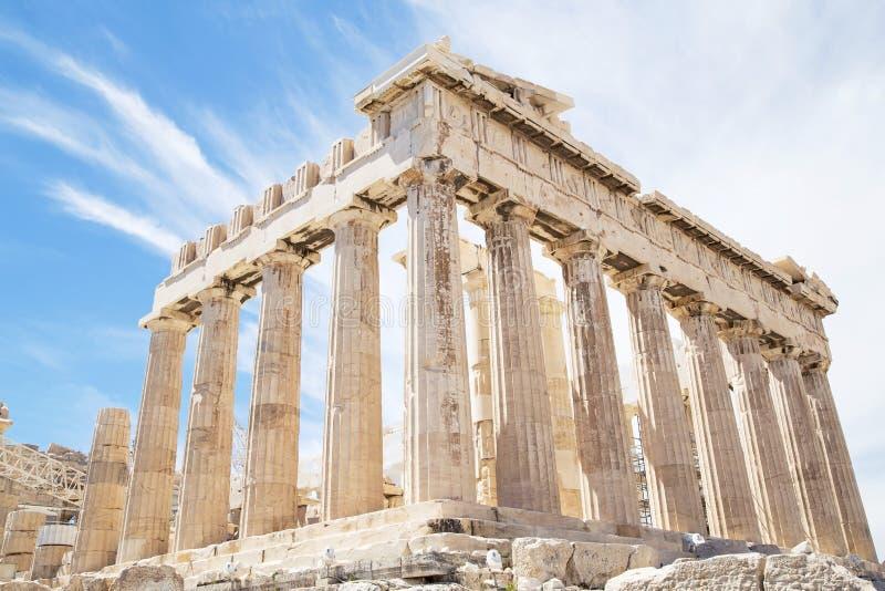 Parthenon p? akropolen royaltyfria foton