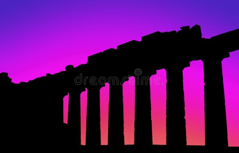 Parthenon sunset-1 photographie stock