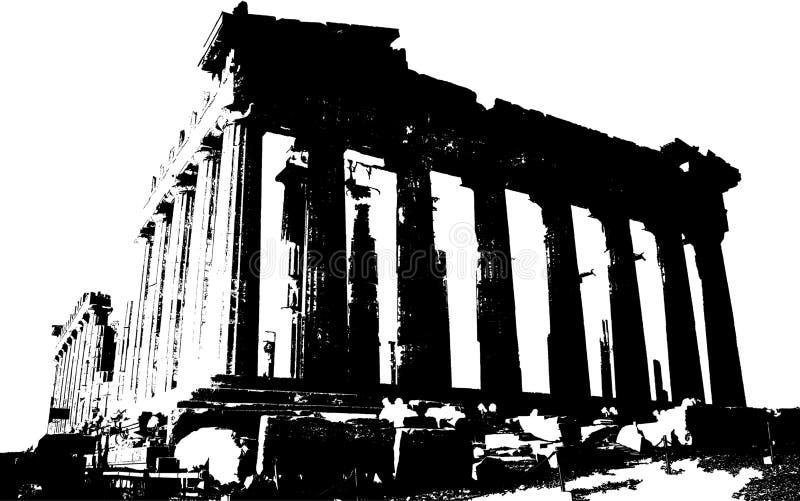 Parthenon sur Acropoli illustration libre de droits