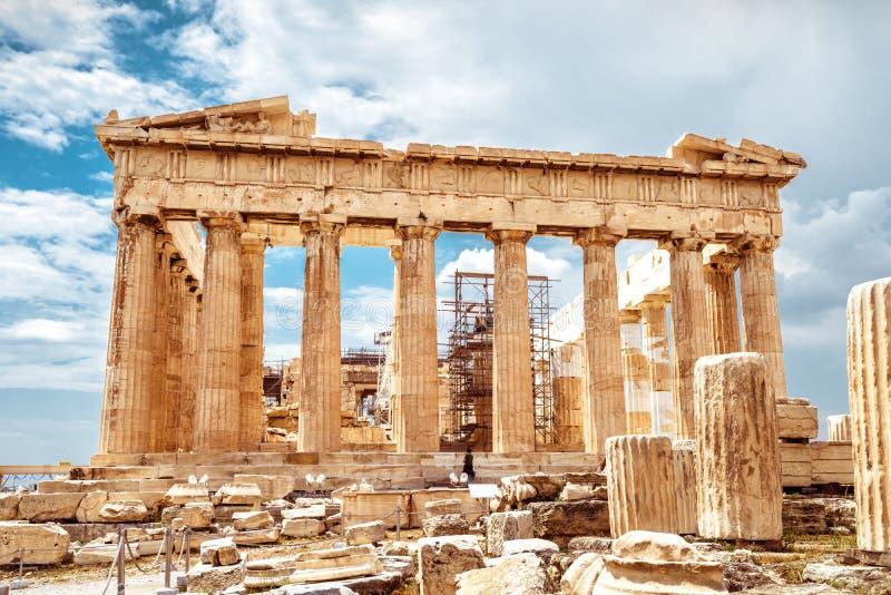 Parthenon sur l'Acropole d'Athènes, Grèce photo stock