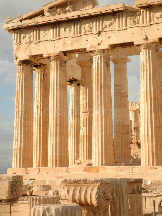 Parthenon-Tempel Athen Griechenland lizenzfreie stockfotografie