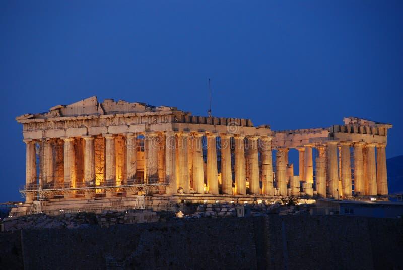Parthenon, tempel op de Atheense Akropolis, gewijd aan de meisjegodin Athena royalty-vrije stock fotografie