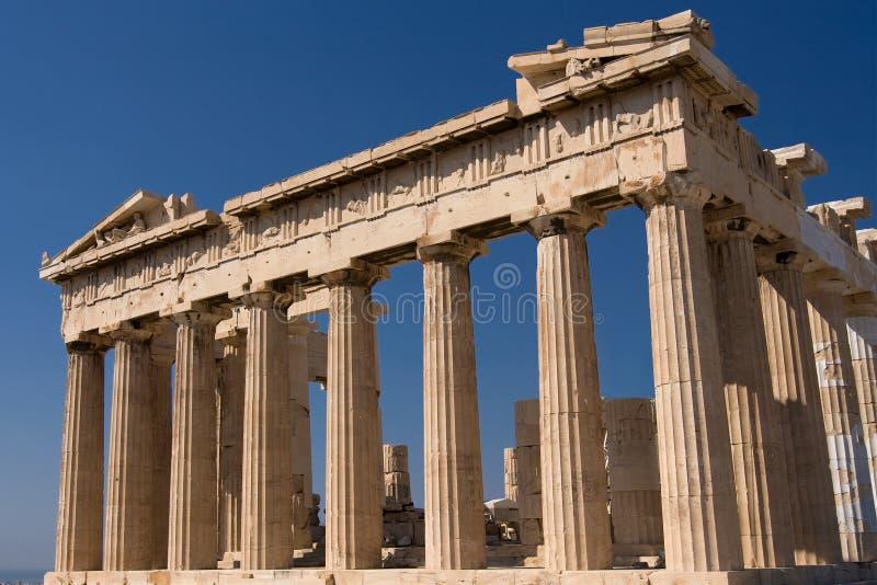 Parthenon temple stock images