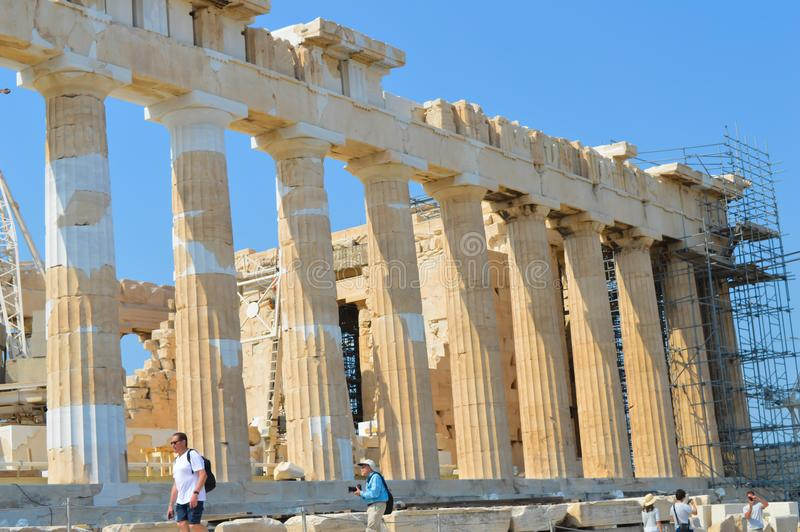 Parthenon temple in Acropolis in Athens, Greece on June 16, 2017. stock image