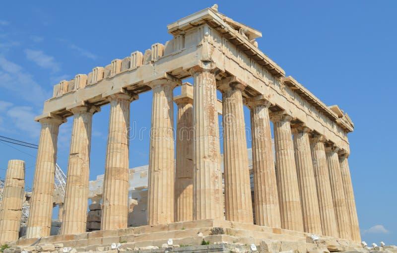 Parthenon temple in Acropolis in Athens, Greece on June 16, 2017. ATHENS, GREECE - JUNE 16: Parthenon temple in Acropolis in Athens, Greece on June 16, 2017 stock photo
