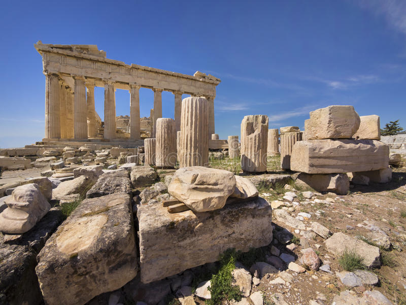 Parthenon temple in Athens, Greece royalty free stock photography