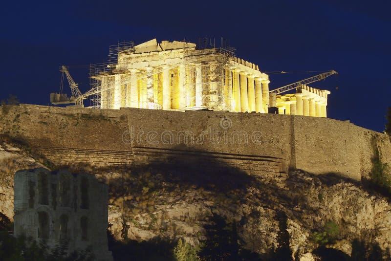 Download Parthenon Temple Illuminated Stock Image - Image: 25114341