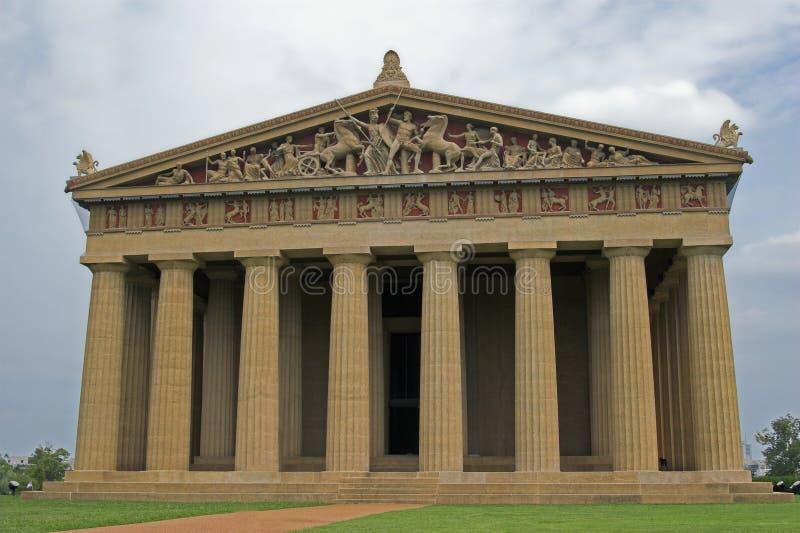 Parthenon- u. Sturmwolken lizenzfreies stockbild