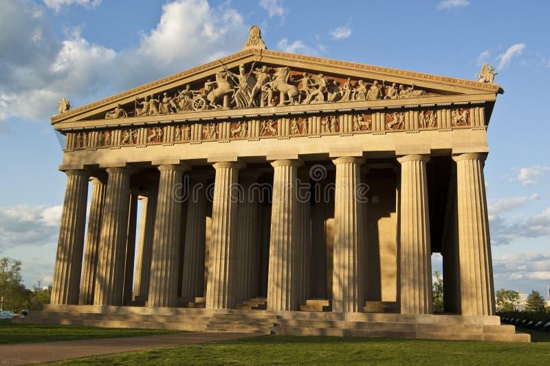 Parthenon (vista frontale) immagini stock libere da diritti