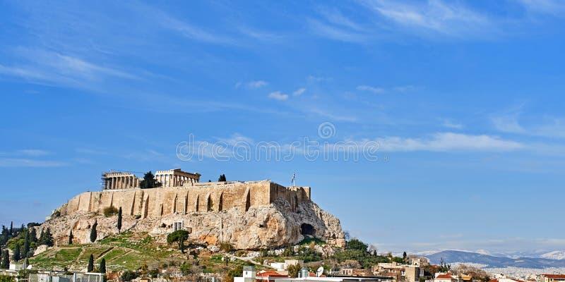 Parthenonas em Akropolis, Atenas, Grécia fotografia de stock royalty free