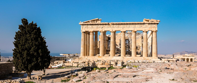 Parthenontempel, Akropolis in Athen, Griechenland stockfotos