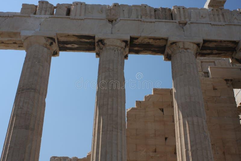 Parthenontempel in Akropolisheuvel in Athene, Griekenland royalty-vrije stock foto