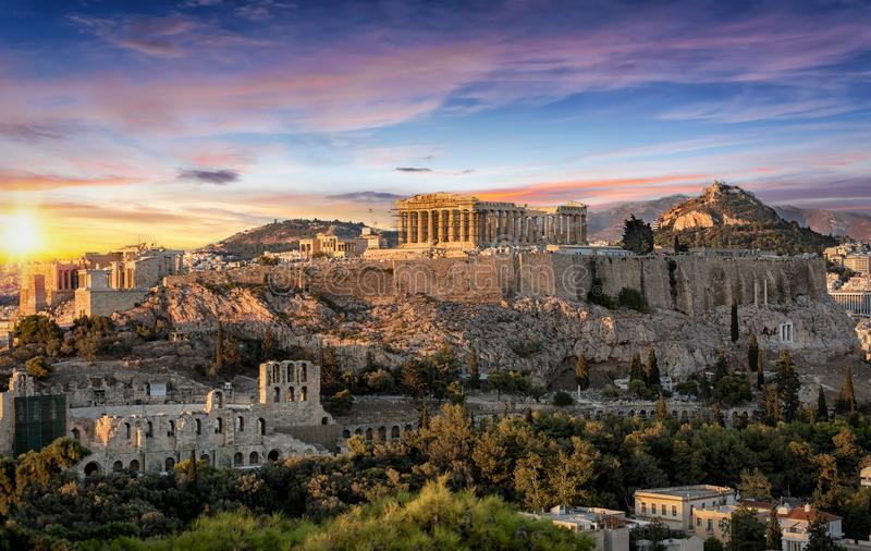 Parthenontemplet på akropolen av Aten, Grekland