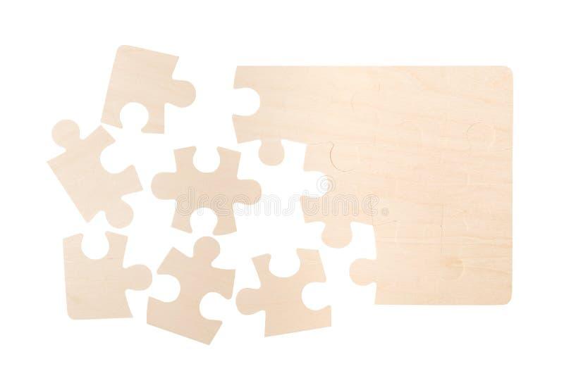 Parti in bianco di puzzle fotografie stock