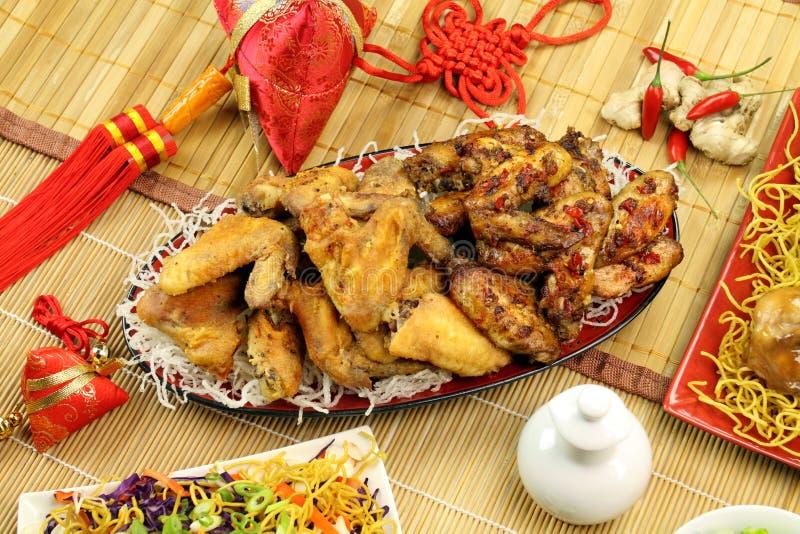 Parti cinesi del pollo fotografia stock libera da diritti