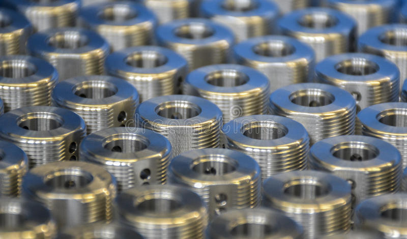Parti d'acciaio industriali immagine stock libera da diritti