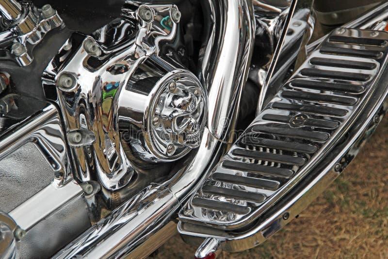 Parti del cromo di Harley davidson fotografie stock