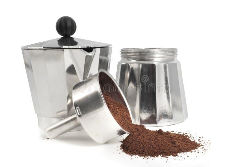 Parti del Mocha con caffè fotografia stock libera da diritti