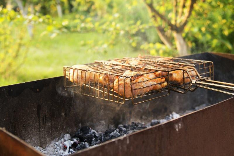 Parti del pollo fritto fotografie stock libere da diritti