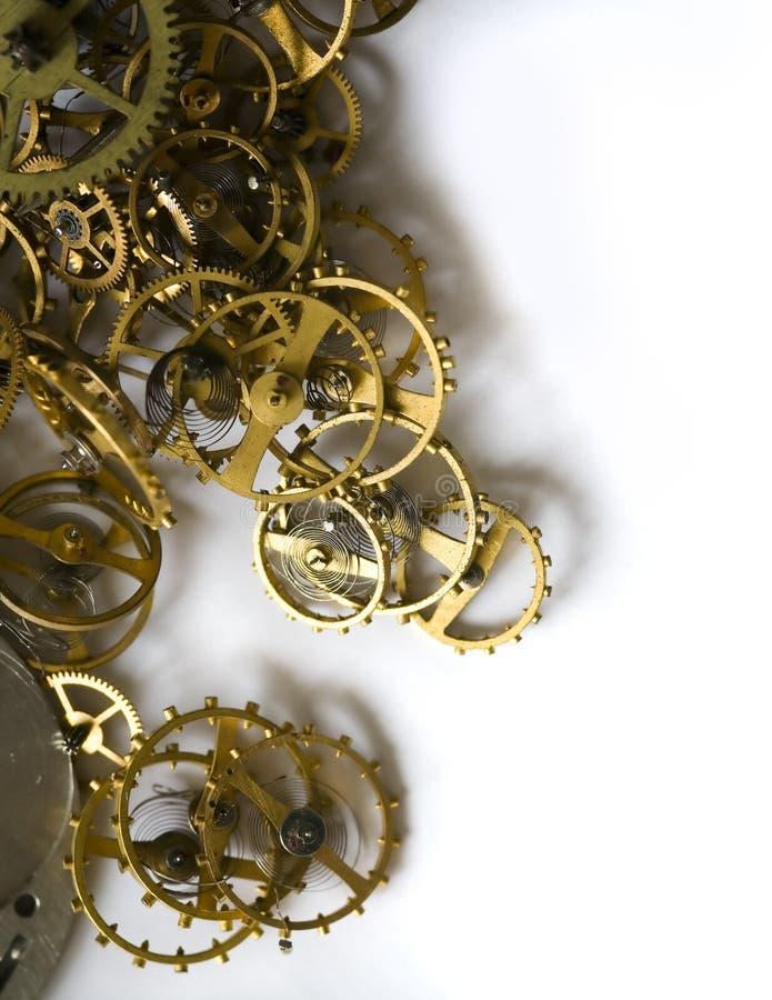Parti del vecchio orologio - VI immagine stock libera da diritti