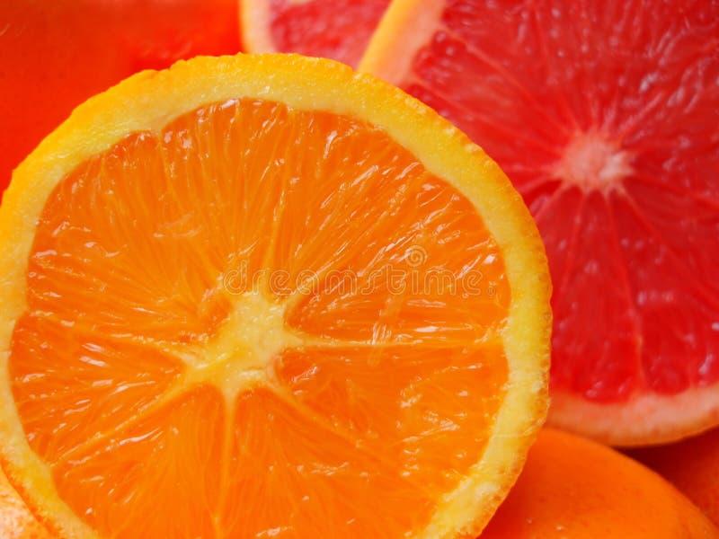 Parti dell'arancio del taglio immagine stock