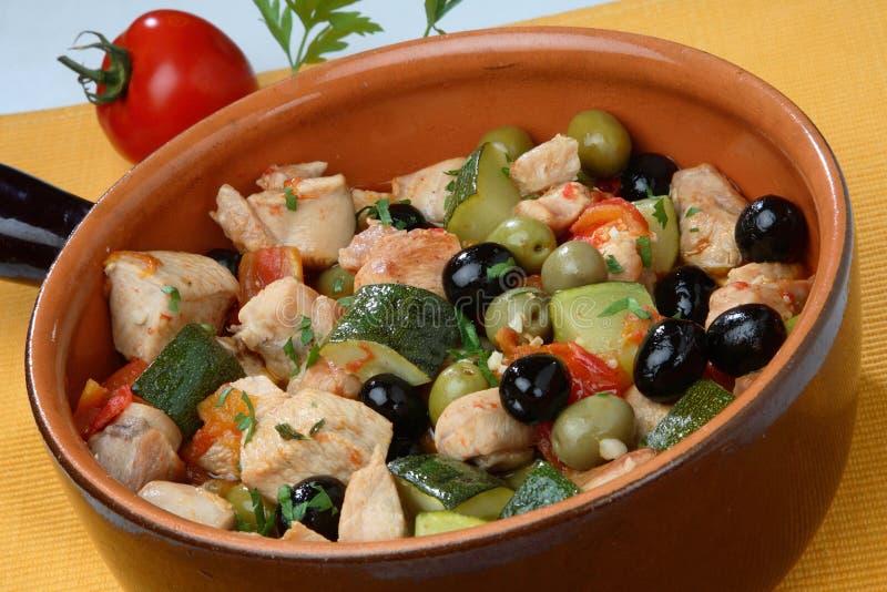 Parti della carne della Turchia con la miscela di verdure immagine stock libera da diritti