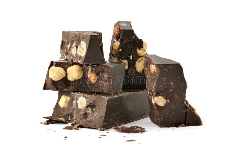 Parti di cioccolato fotografie stock libere da diritti