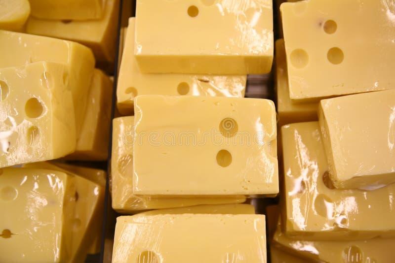 Parti di formaggio fotografia stock
