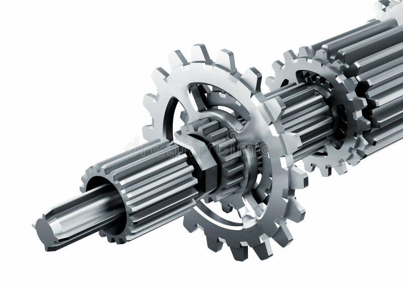 Parti di motore meccaniche illustrazione di stock