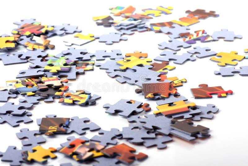 Parti di puzzle fotografie stock libere da diritti