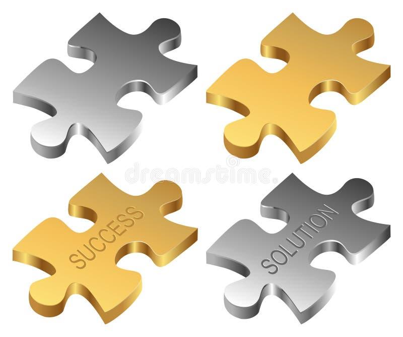 parti di puzzle illustrazione di stock
