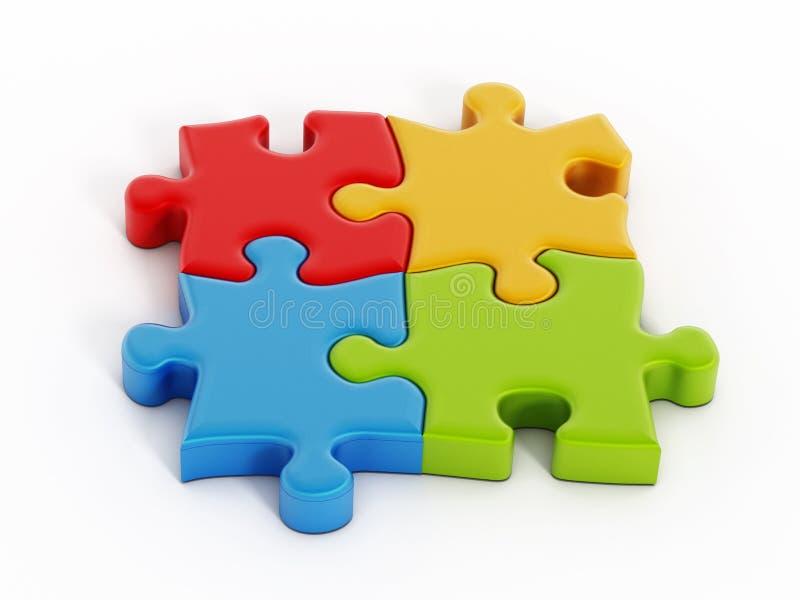 Parti di puzzle illustrazione di stock illustrazione di - Collegamento stampabile un puzzle pix ...