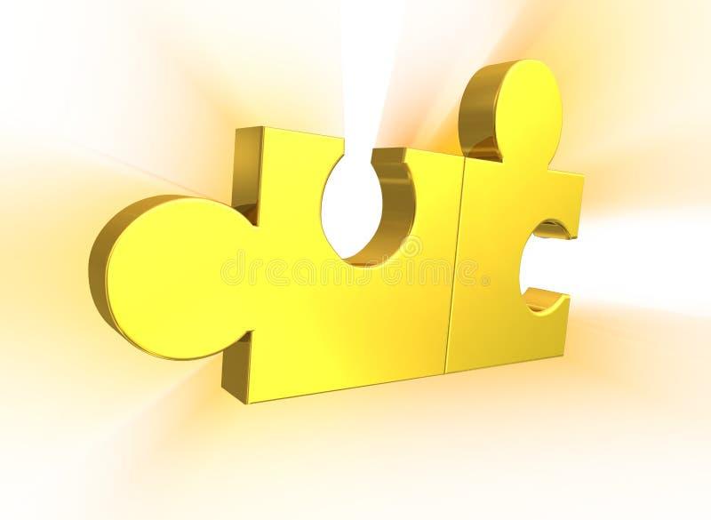 Parti di puzzle illustrazione vettoriale