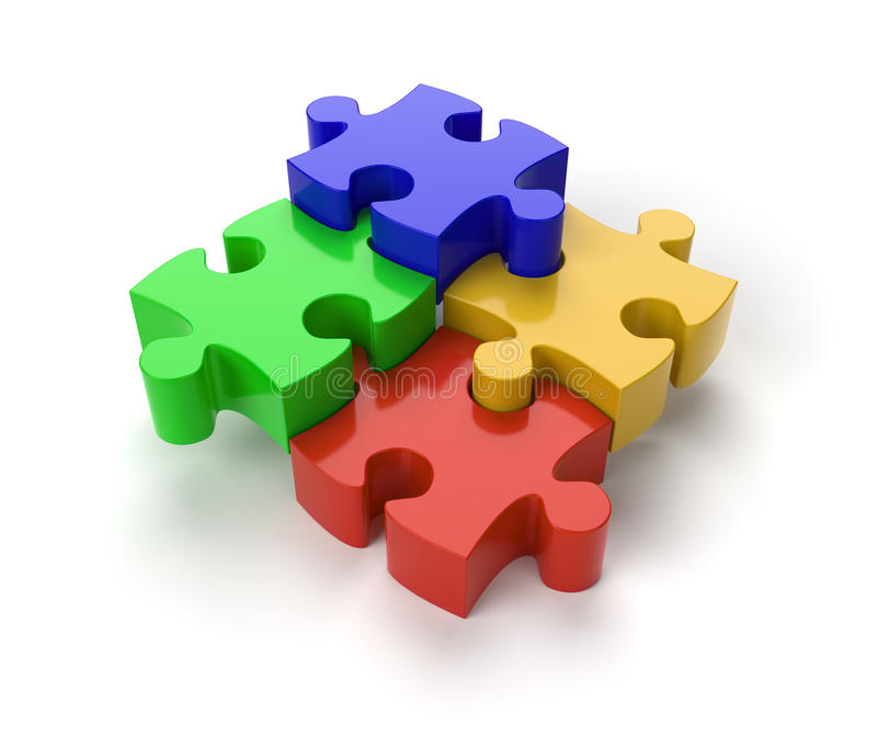 Parti di puzzle del puzzle illustrazione vettoriale