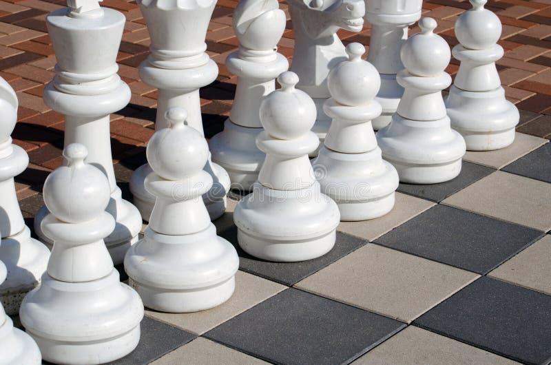 Parti di scacchi bianche fotografia stock