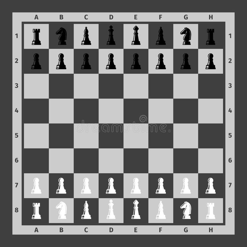Parti di scacchi impostate illustrazione di stock