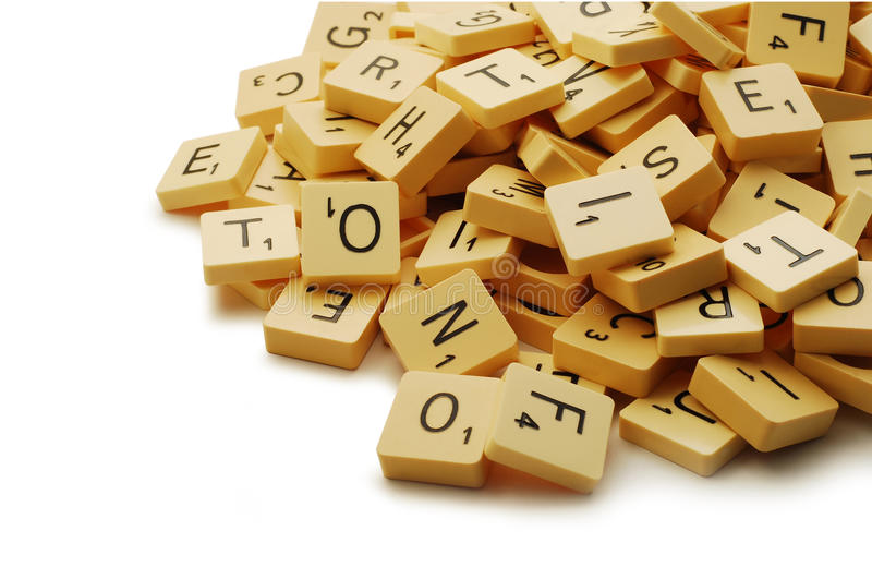 Parti di Scrabble immagine stock