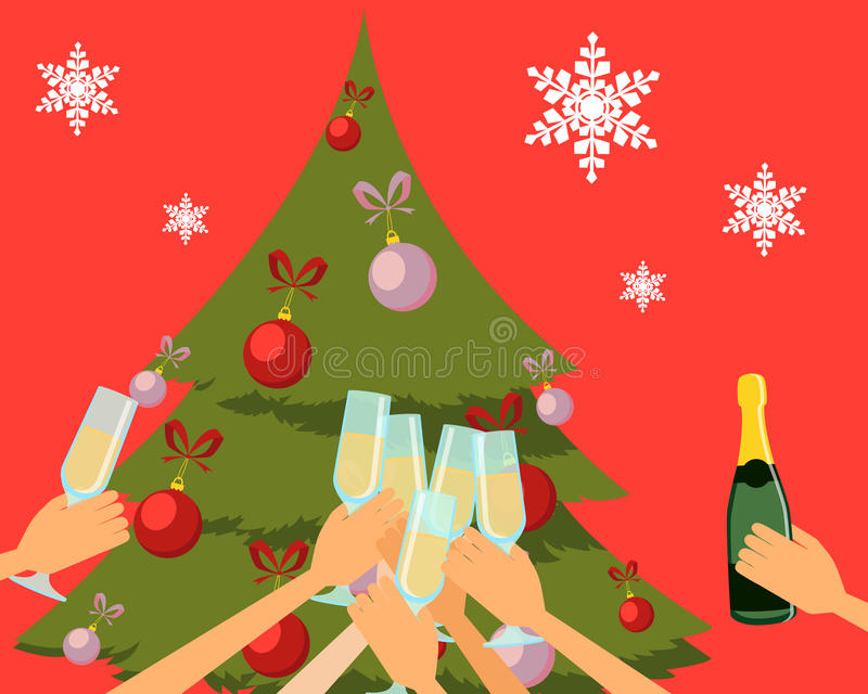 Parti för nytt år stock illustrationer