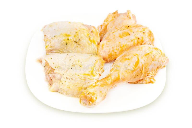 Parti marinate del pollo immagine stock