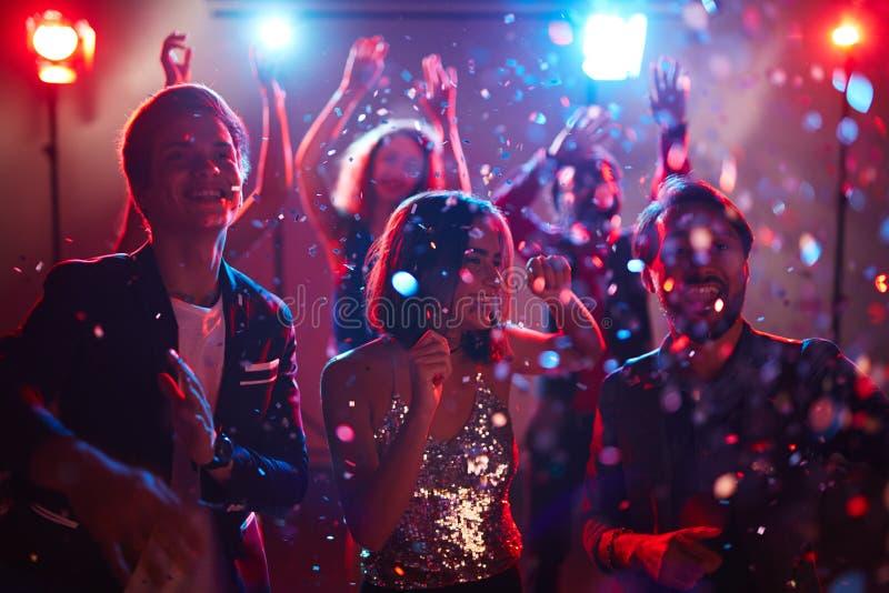 Parti med konfettier arkivfoto