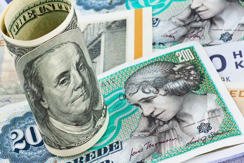 Parti superiori danesi. Valuta della Danimarca immagini stock libere da diritti