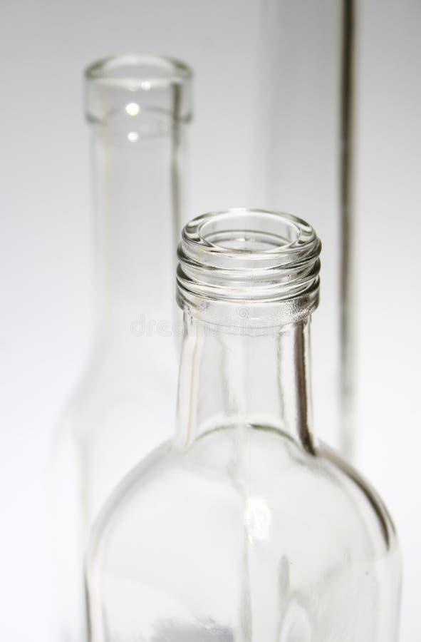 Parti superiori della bottiglia fotografia stock