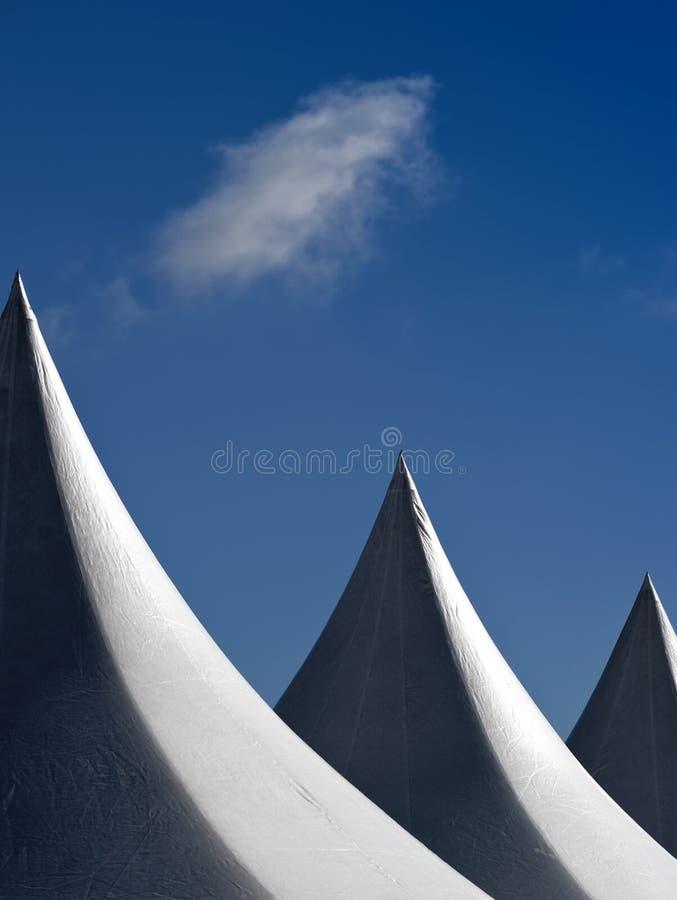 Parti superiori della tenda fotografia stock
