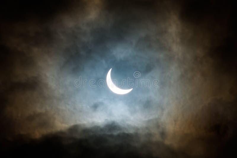 Partial Eclipse of the sun royalty free stock photos